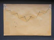 Enveloppe de lettre scellée Images libres de droits