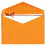 Enveloppe de papier de Brown sur le blanc Photos stock