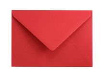 Enveloppe de papier rouge Photos libres de droits