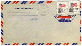 Enveloppe de par avion de cru Image libre de droits