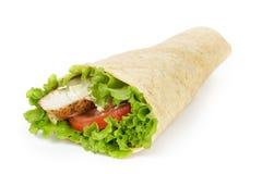 Enveloppe de poulet de tortilla image stock