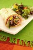 enveloppe de salade de jambon Photographie stock libre de droits