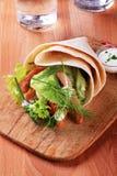 Enveloppe de tortilla image stock