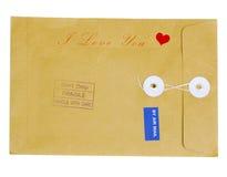 Enveloppe de Valentine Images stock