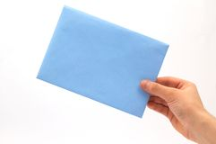 Enveloppe à disposition Photo stock