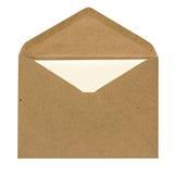 Enveloppe et carte photographie stock libre de droits