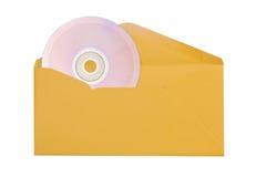 Enveloppe et CD Photographie stock