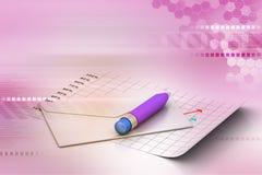 Enveloppe et crayon détaillés Photo libre de droits