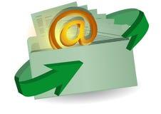 Enveloppe et email Image stock
