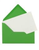 Enveloppe et note Photos libres de droits