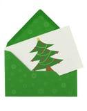 Enveloppe et note de Noël image libre de droits