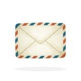 Enveloppe fermée de courrier de vintage Photographie stock
