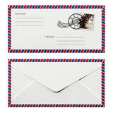 Enveloppe front and back design Stock Images