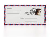 Enveloppe front back side design Stock Images