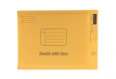 Enveloppe jaune Photos stock