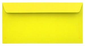 Enveloppe jaune d'isolement Photographie stock libre de droits