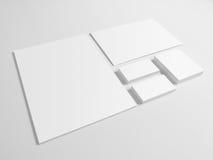 Enveloppe le dossier de carte de visite professionnelle de visite sur le fond gris Photos libres de droits