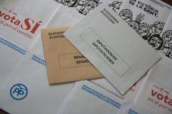 Enveloppe les élections générales en Espagne Photo libre de droits