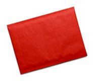 Enveloppe matelassée rouge photographie stock