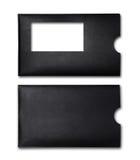 Enveloppe noire pour la correspondance d'affaires images stock