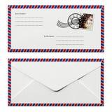 Enveloppe plecy i przodu projekt Obrazy Stock