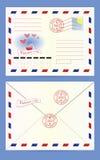 Enveloppe postale Images stock