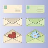 Enveloppe postale Photos libres de droits