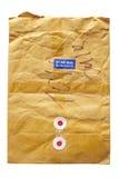 Enveloppe postale de Brown Images libres de droits