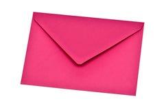 Enveloppe rose Photographie stock