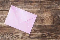 Enveloppe rose Image libre de droits