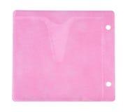 Enveloppe rose pour le CD Photographie stock