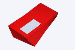 Enveloppe rouge Image stock