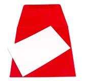 Enveloppe rouge Image libre de droits