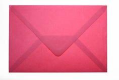 Enveloppe rouge Photographie stock libre de droits