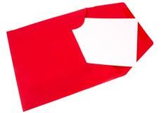 Enveloppe rouge Photos stock