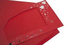 Enveloppe rouge Photos libres de droits