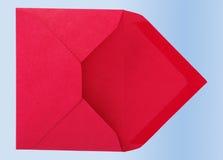 Enveloppe rouge. image stock
