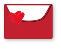 Enveloppe rouge Photo libre de droits