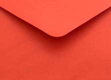 Enveloppe rouge Images stock