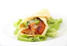 Enveloppe tandoori de poulet Photos stock