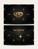 Enveloppe texturisée de l'or VIP Photographie stock libre de droits