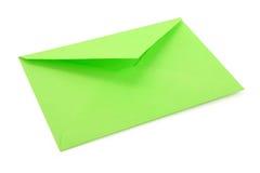Enveloppe verte Image libre de droits