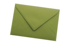 Enveloppe verte Image stock