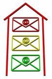 Enveloppen met teken e-mail Stock Afbeelding