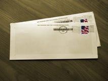 Enveloppen (Sepia - Geïsoleerde¯ Kleur) stock afbeeldingen