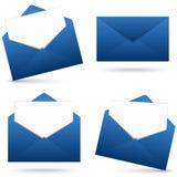 Enveloppes avec la collection de bloc-notes Photos stock