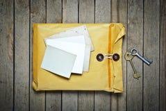 Enveloppes avec les trames vides Photographie stock