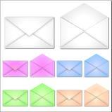 Enveloppes blanc Images libres de droits