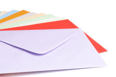 Enveloppes colorées image stock