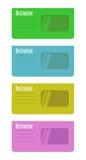 Enveloppes colorées Photos libres de droits
